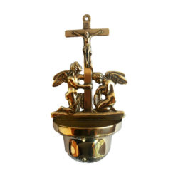 Brass Water Font with Angels