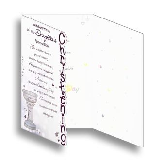 Baptism Card Pink (BAP8-031)