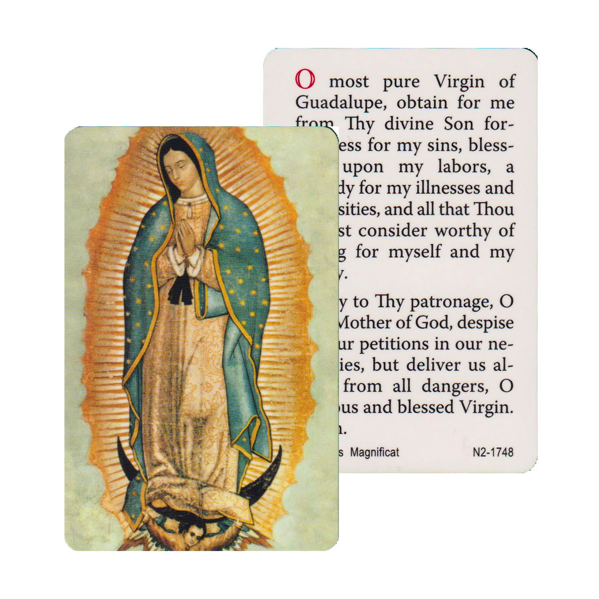 Our Lady of Guadalupe Prayer Card (CAR1-013)