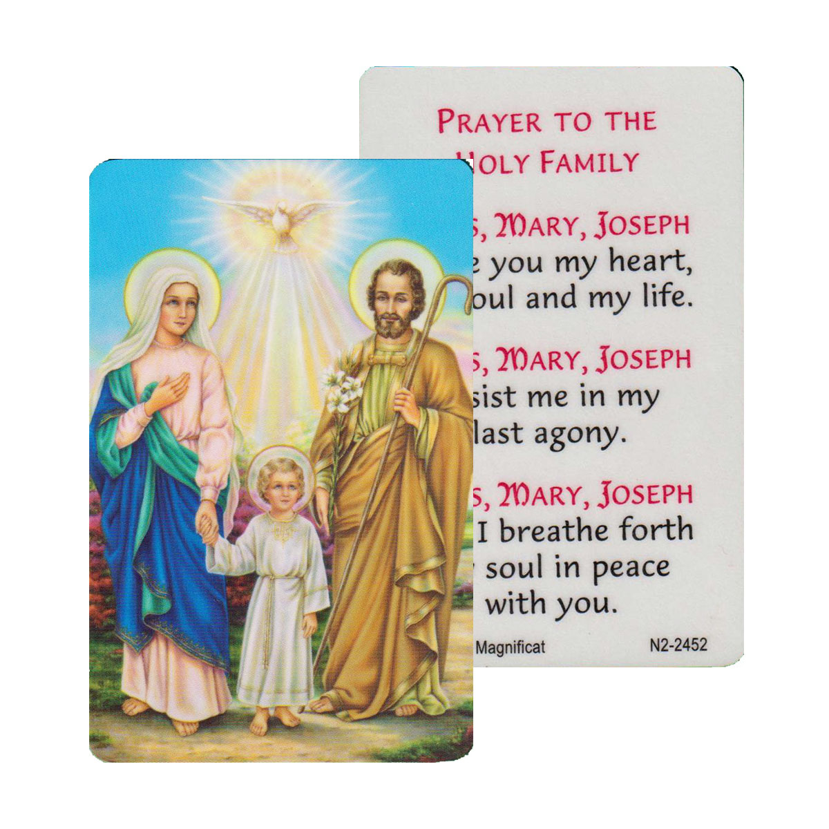 Holy Family Prayer Card (CAR1-015)