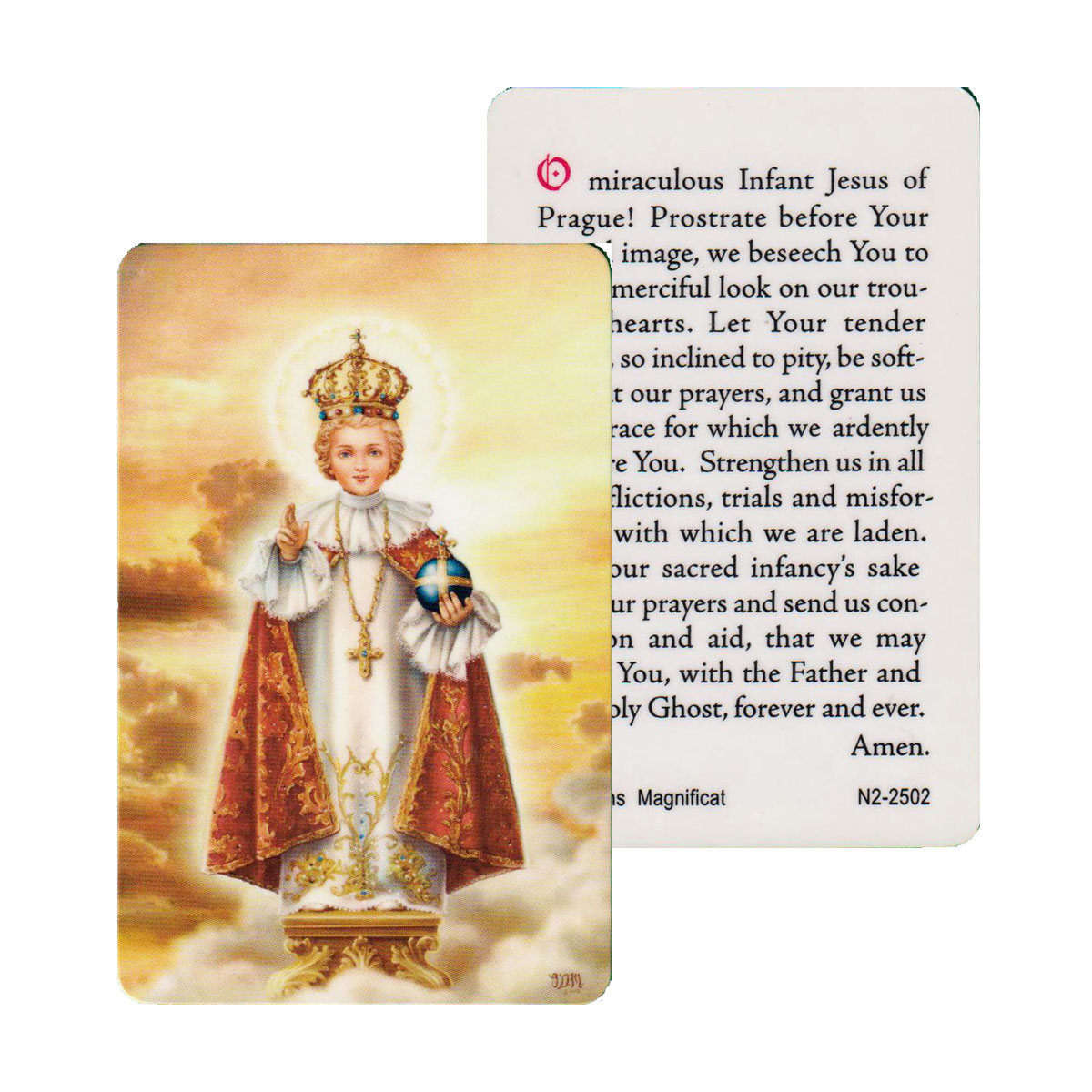 Jesus of Prague Prayer Card (CAR1-017)