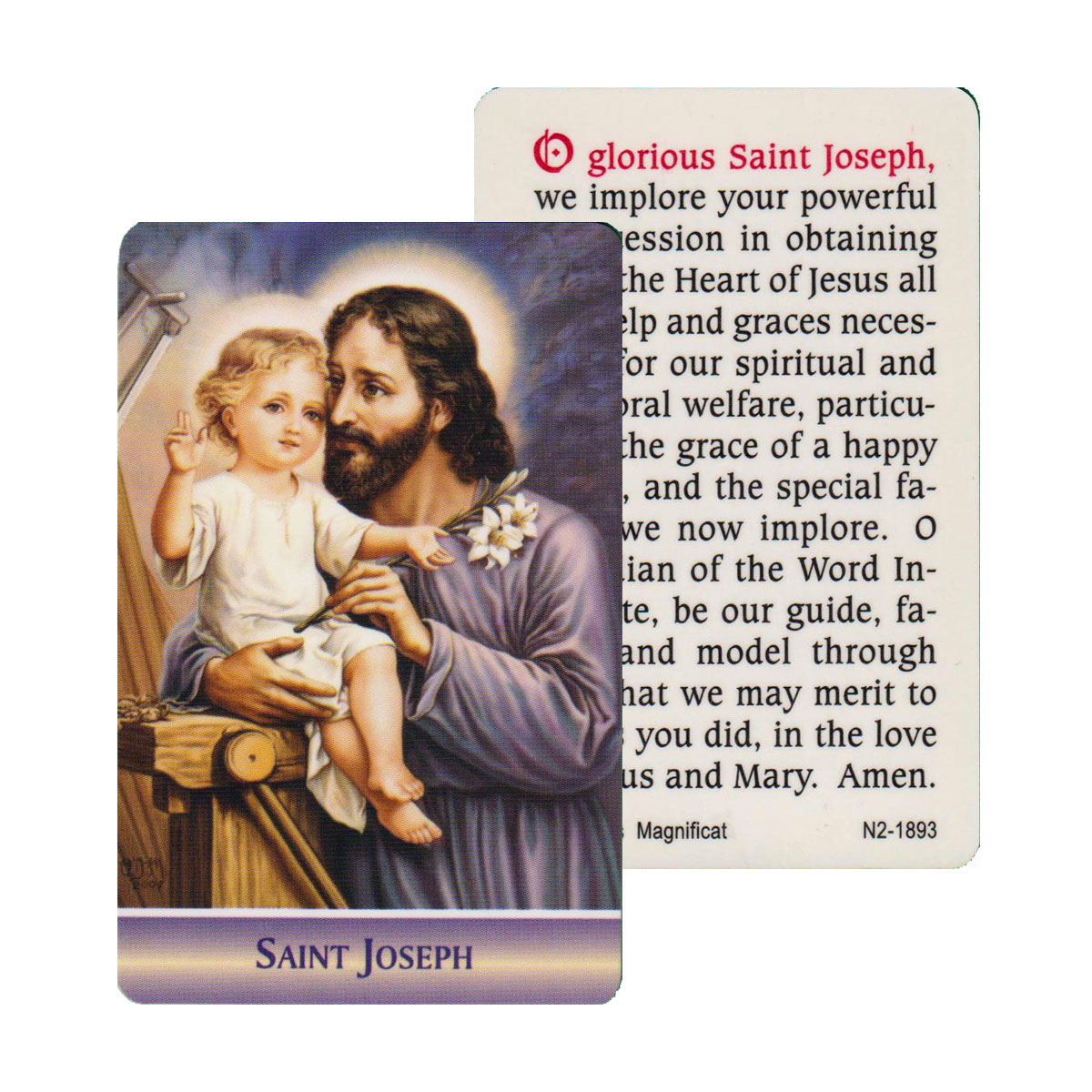 St Joseph Prayer Card (CAR1-018)